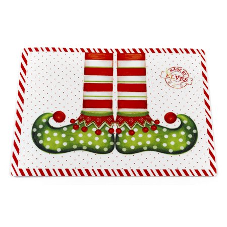Edf Foam Jet - Santas Milk N Cookies Collection Set of 2 Expanded Foam Vinyl Placemat (18