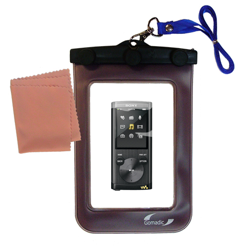 Gomadic Clean and Dry Waterproof Protective Case Suitablefor the Sony Walkman NWZ-E455 to use Underwater