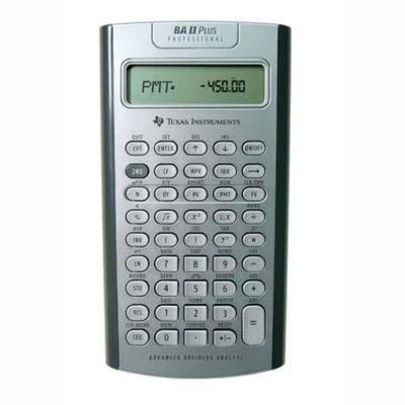 OER Texas Instruments BA II Plus Professional Advanced Fi...