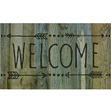 Better Homes & Garden 18'' x 30'' Recycled Rubber Welcome Arrow Doormat, 1 Each