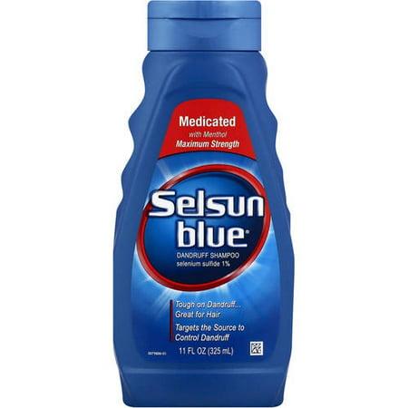 selsun blue medicated anti dandruff shampoo 11 oz walmart com
