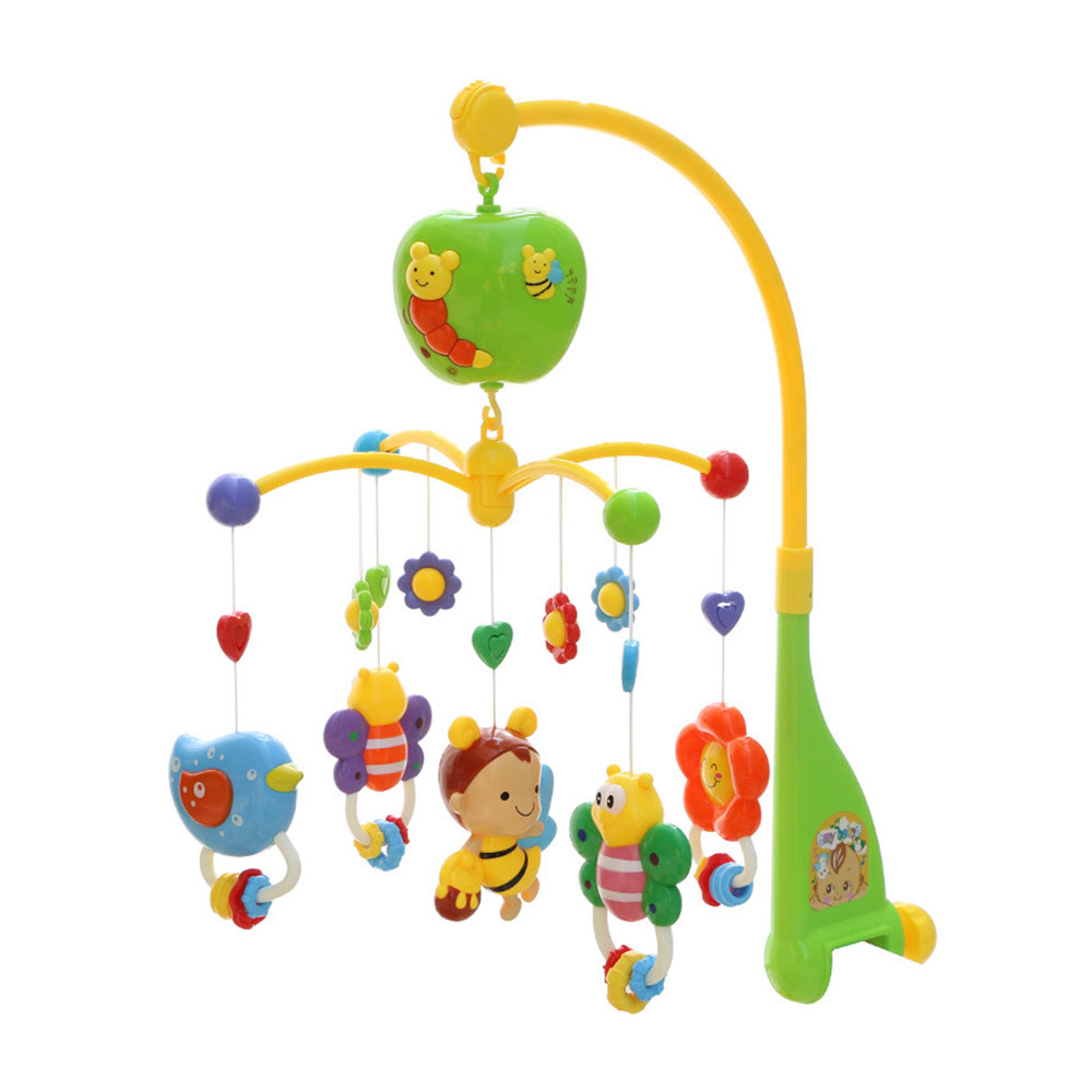 12 Songs Bed Bell Kids Crib Musical Mobile Cot Music Box Gift Baby Rattles Toy.