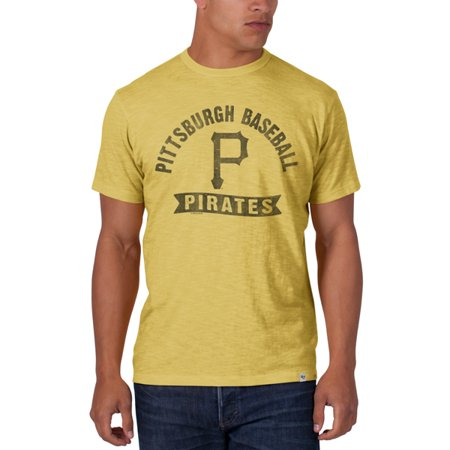 Pittsburgh Pirates 47 Brand Cooperstown Gold Vintage Logo Scrum T-Shirt by