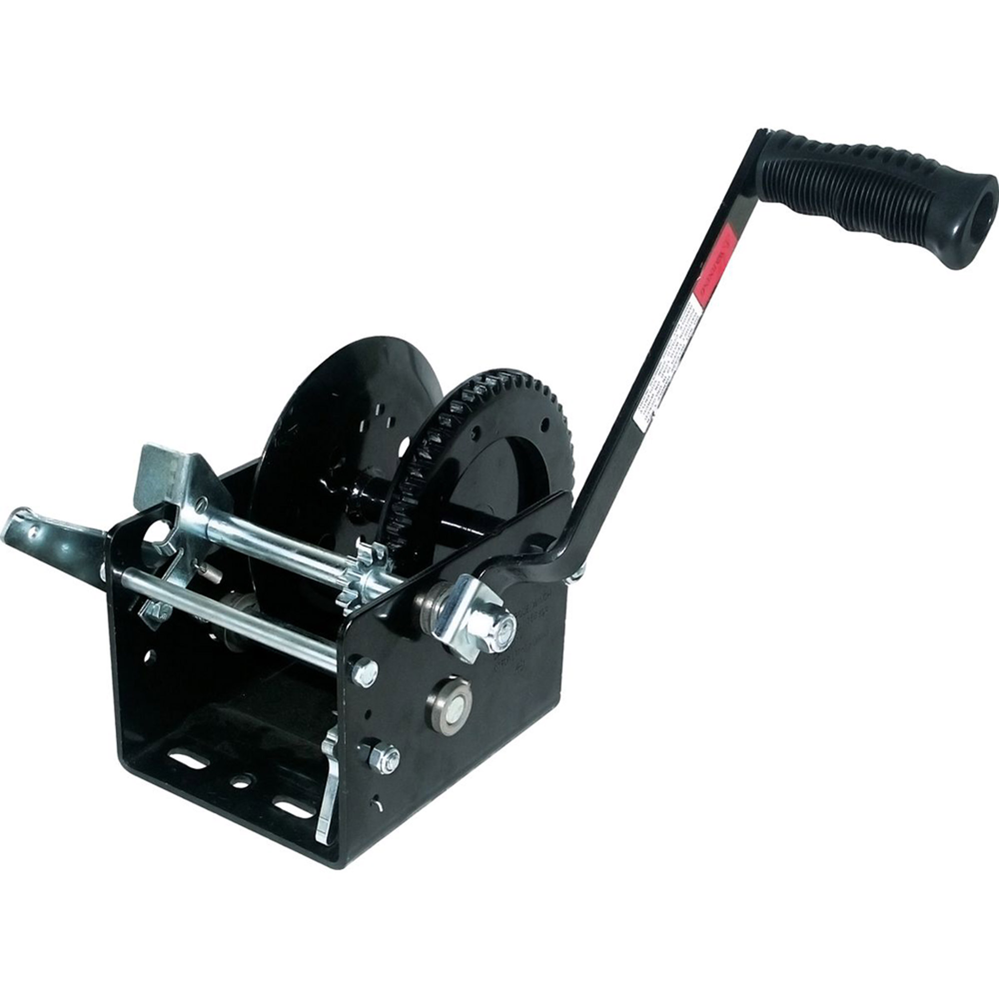 SeaSense 2500 lbs 2-Speed Seacoat Trailer Winch with Brake, 25' Strap
