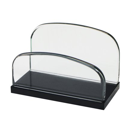 Storex Executive Business Card Holder,Glass (Case of 4)