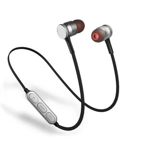 Bluetooth Earphones, EEEKit Universal Wireless Magnetic Bluetooth 4.0 HD Stereo Headset In-Ear Sports Earbuds with Built-In Microphone for Smartphone Tablet PC,