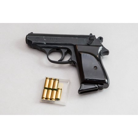 LAMINATED POSTER Shot Blank Gun Hand Gun Shoot Gun Pistol