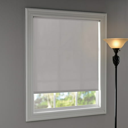 "Mainstays Room Darkening Tear-to-Fit Roller Shade 37-1/4""x72"", White"