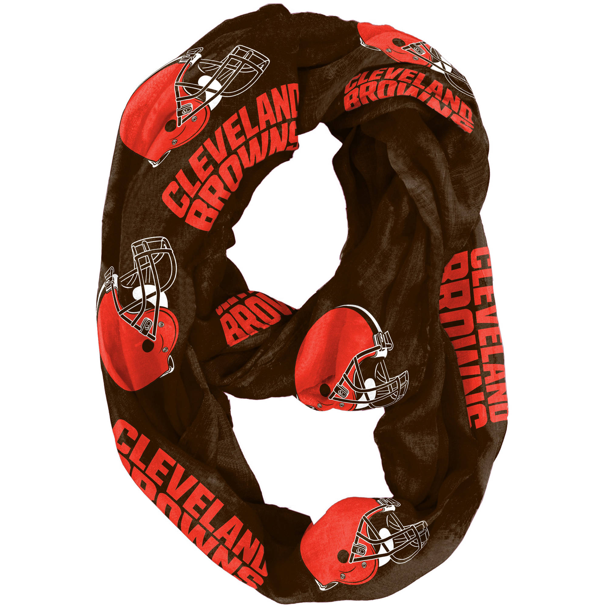 Little Earth - NFL Sheer Infinity Scarf, Cleveland Browns
