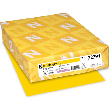 - Astrobrights, WAU22791, Colored Cardstock, 250 / Pack, Sunburst Yellow