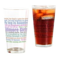 CafePress Gilmore Girls Quotes Pint Glass, Drinking Glass, 16 oz. CafePress
