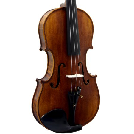 SKY 4/4 Full Size SKYVNSH100 Premium Hand Carved Ebony Fitted Violin - Villain Outfit