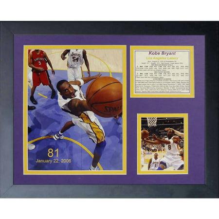 Legends Never Die  Kobe Bryant 81 Point Game  Framed Photo Collage  11  X 14