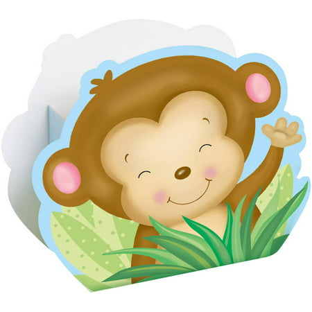 Blue Monkey Baby Shower Favor Boxes, 8-Count - Babyshower Favors