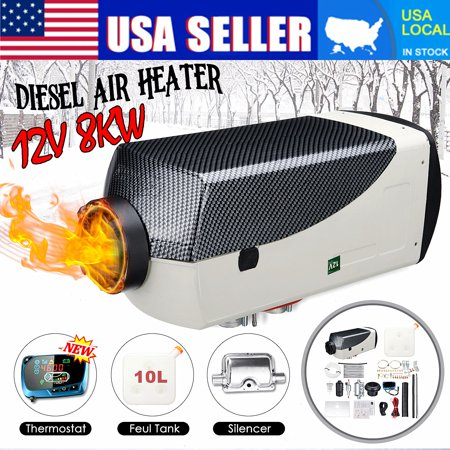 12V 8KW Diesel Air Heater LCD Thermostat +Muffler + 10L Tank For Car Trucks Boat Motorhomes