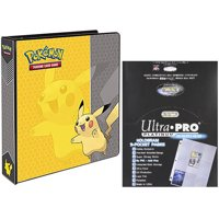 "Pokemon Pikachu 2"" 3-Ring Binder Card Album with 100 Ultra Pro Platinum Series 9-Pocket Sheets"