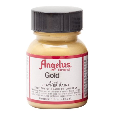 - Angelus® Leather Paint, Gold, 1 oz.