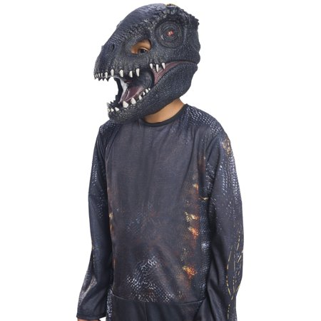 Jurassic World: Fallen Kingdom Villain Dinosaur Kids 3/4 Mask Halloween Costume Accessory](Pig Masks For Kids)