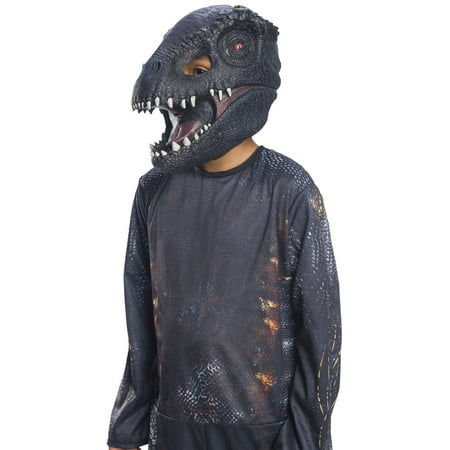 Jurassic World: Fallen Kingdom Villain Dinosaur Kids 3/4 Mask Halloween Costume Accessory - Printable Halloween Masks For Children