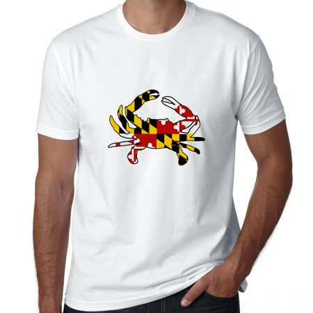 Maryland Crab   Flag Background Chesapeake Bay Mens T Shirt