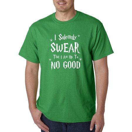 Trendy USA 1062 - Unisex T-Shirt I Solemnly Swear That I Am Up To No Good 2XL Kelly