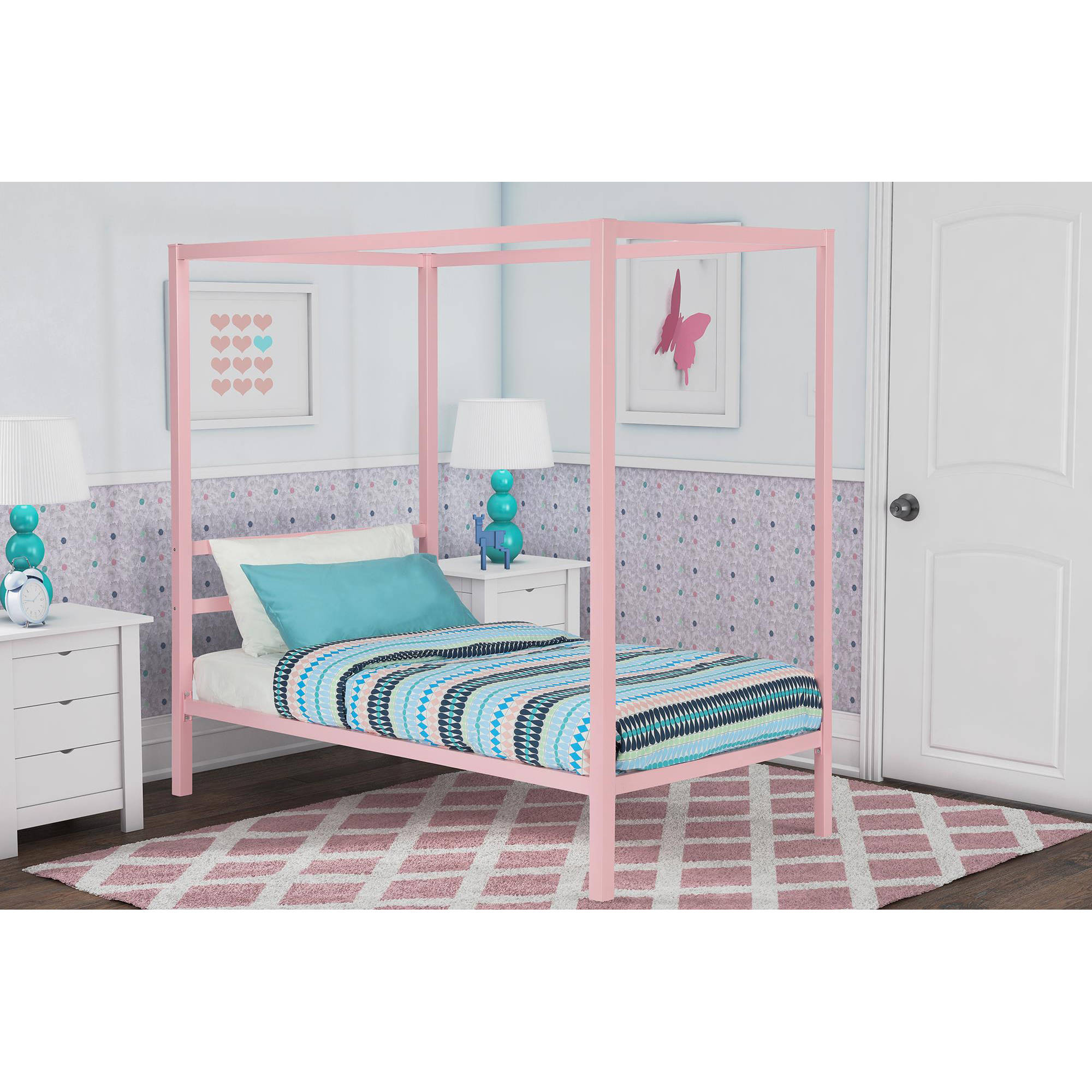 DHP Modern Metal Canopy Bed Multiple Colors and Sizes  sc 1 st  Walmart & DHP Modern Metal Canopy Bed Multiple Colors and Sizes - Walmart.com