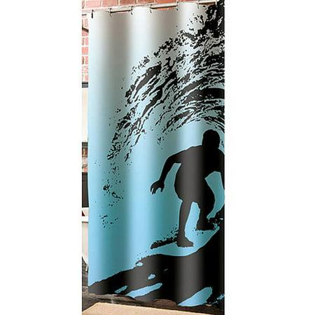 Veratex Inc Wild Surf Shower Curtain