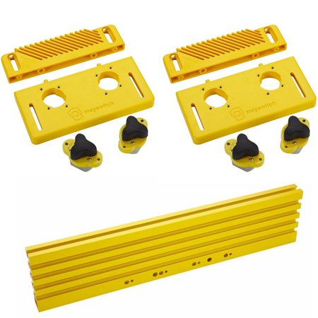 Magswitch Woodworking Featherboard Starter Kit w/ 36-Inch Universal Track  for Workholding System (2-Pack)