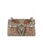 Gucci Dionysus Chain Bag Elephant Signature Beige Strawberry Italy Handbag New