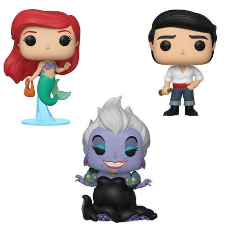 Funko POP! Disney Little Mermaid Collectors Set - Ariel with bag, Ursula with Eels, Prince