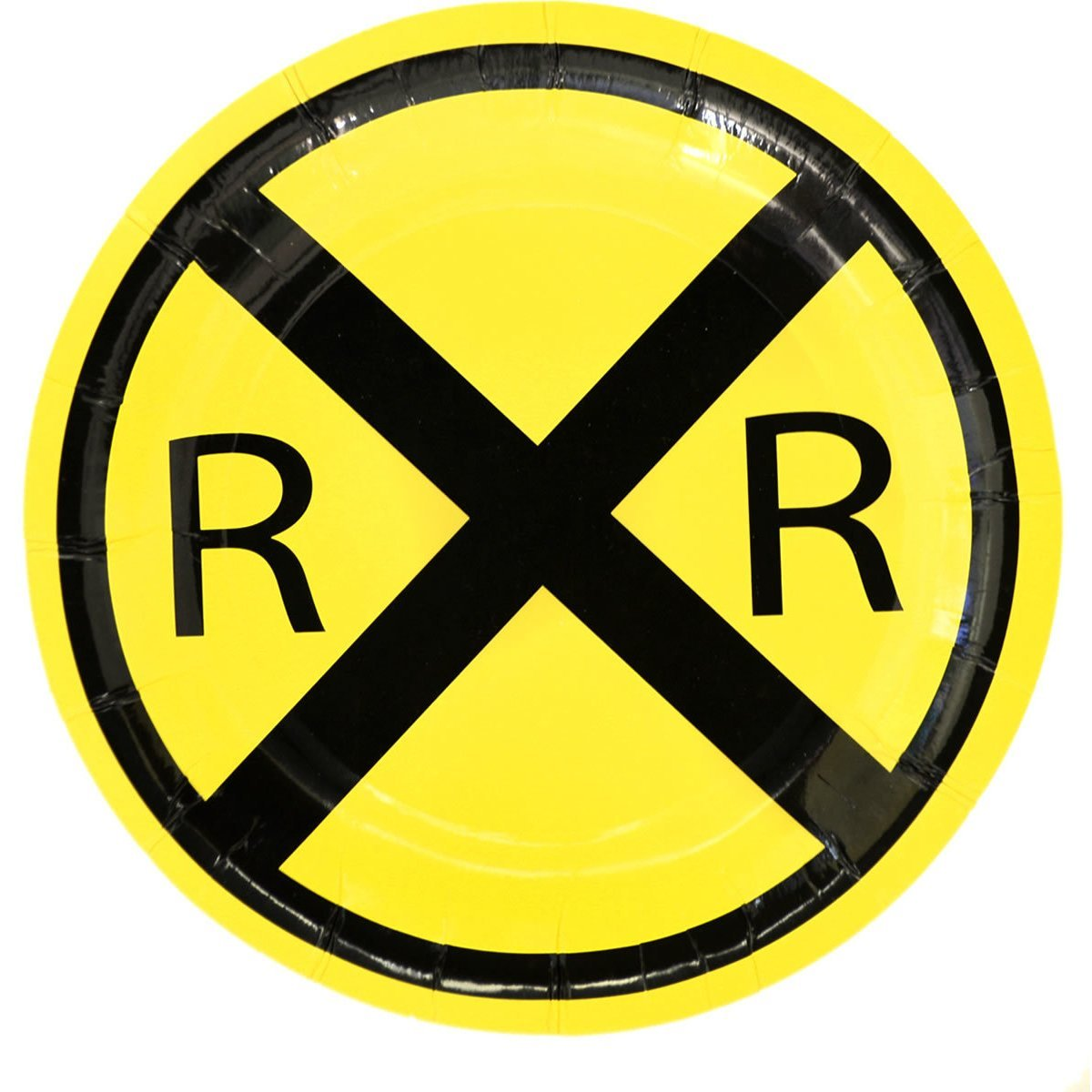 """RailRoad Train Party 7"""" Dessert Plate - 8 Pack, One pack of 8. By TheCamoHut"""