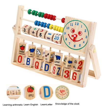 Tuscom Kids Boy Girl Baby Learning Early Educational Development Abacus Wooden Toys