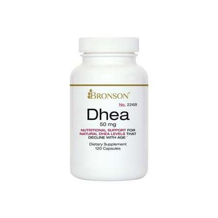 Bronson DHEA 50 mg, 120 Capsules