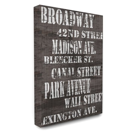 The Stupell Home Decor Collection Broadway New York City Streets Canvas Wall Art