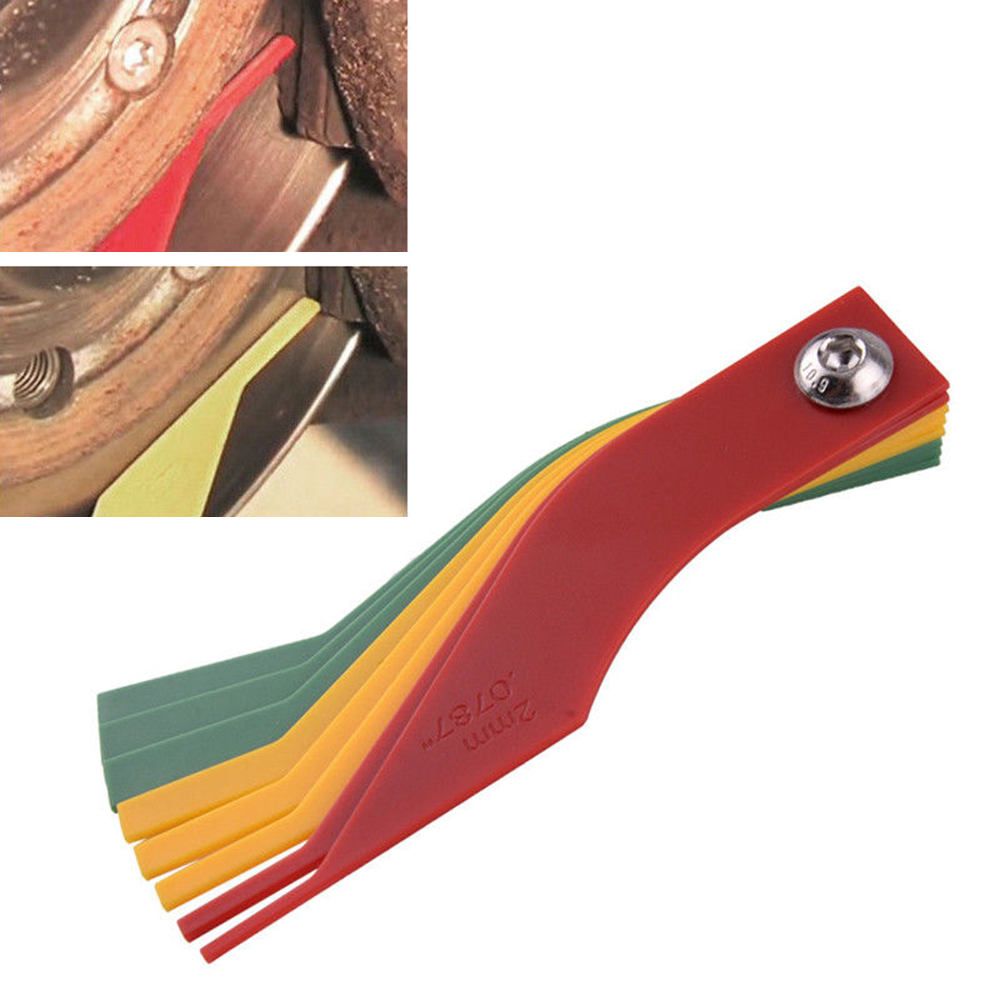 8-in-1 Thickness Gauge Measure Ruler Tool Automotive Brake Pad Feeler Lining