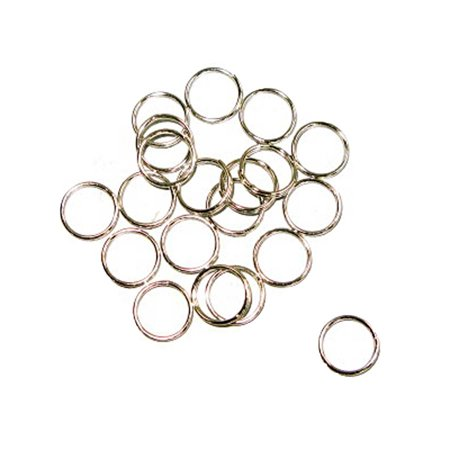 Metal Split Rings Nickel Color 100 Pack Jewelry Findings - 6 Sizes Lead Free Nickel Free - image 13 de 14