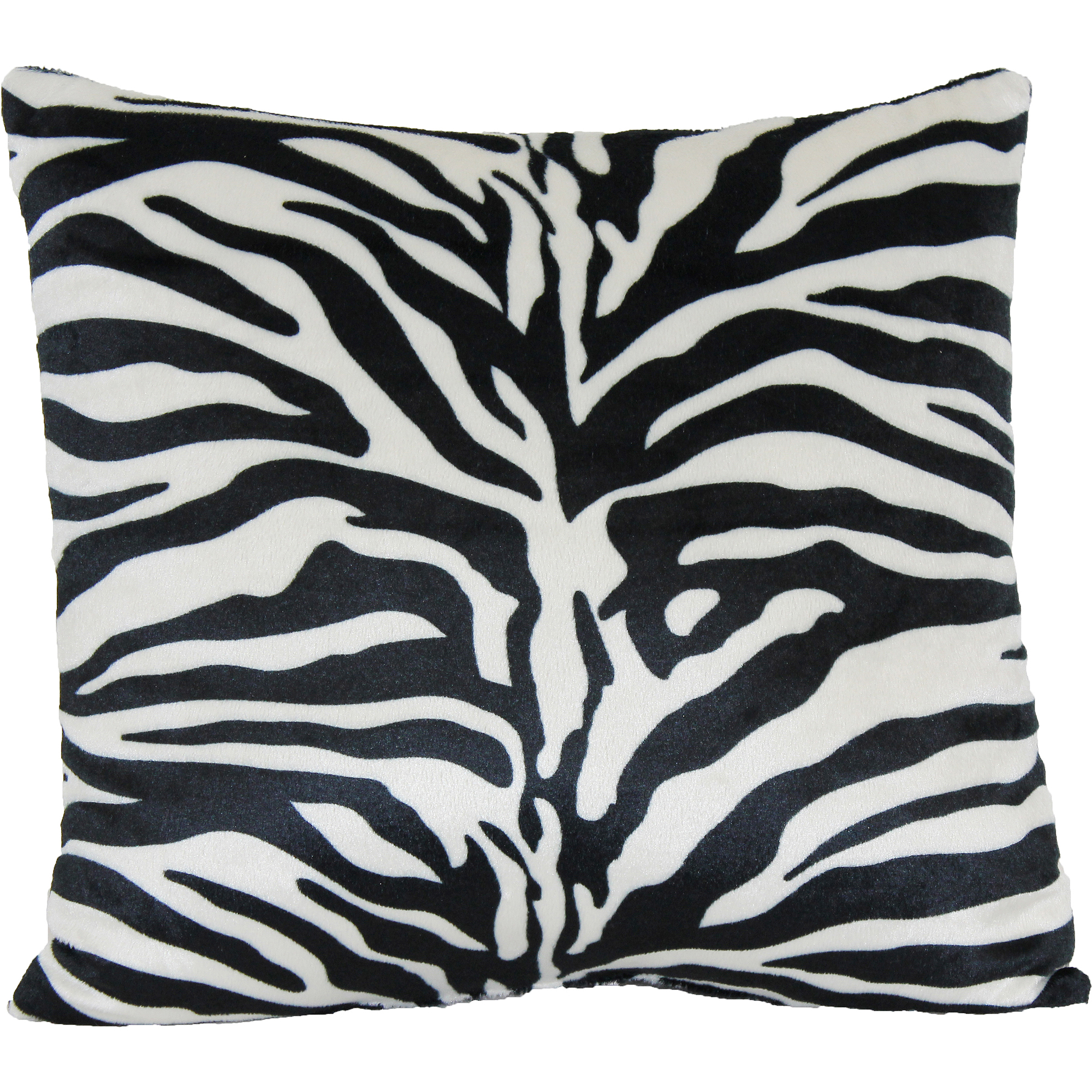 Picture of: Zebra Print Decorative Pillow Walmart Com Walmart Com