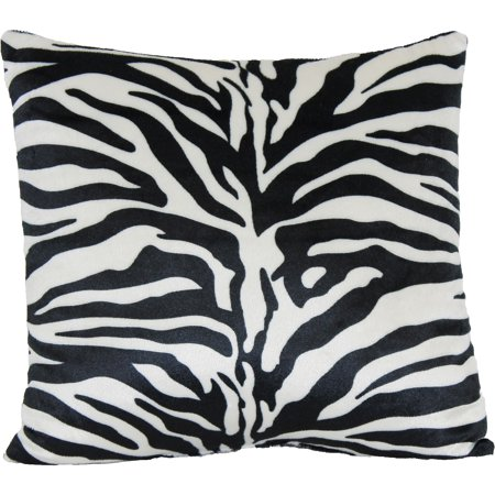 Pink Zebra Print Decorative Pillows : Zebra Print Decorative Pillow - Walmart.com