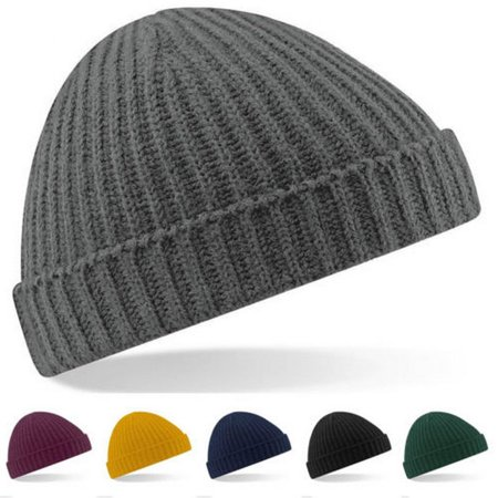 Men Beanie Plain Knit Ski Hat Skull Cap Cuff Warm Winter Blank Colors Unisex Beany (Mens Running Winter Hat)