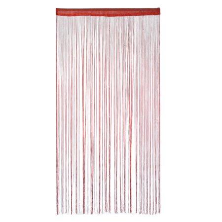Home Decor Polyester Door Window String Bead Curtain Tassel Burgundy 100 x 200cm - Burgundy Decor