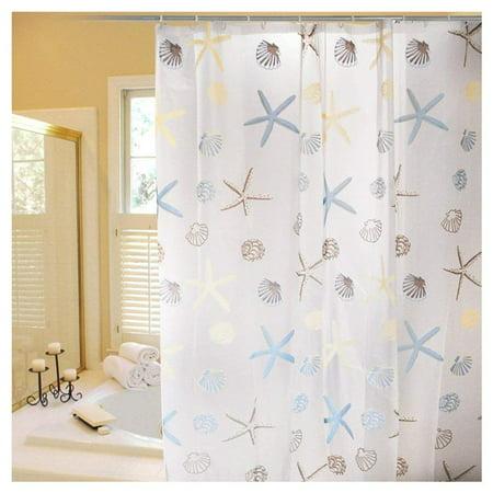 Xubox PEVA Shower Curtain Liner Toxic Eco Friendly Mildew Resistant Waterproof Odorless Free of PVC Chlorine (Echo Shower Curtain)