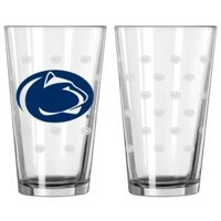 Penn State Nittany Lions Official NCAA 10 inch  x 7 inch  Satin Etch Pint Glass Set by Boelter Brands