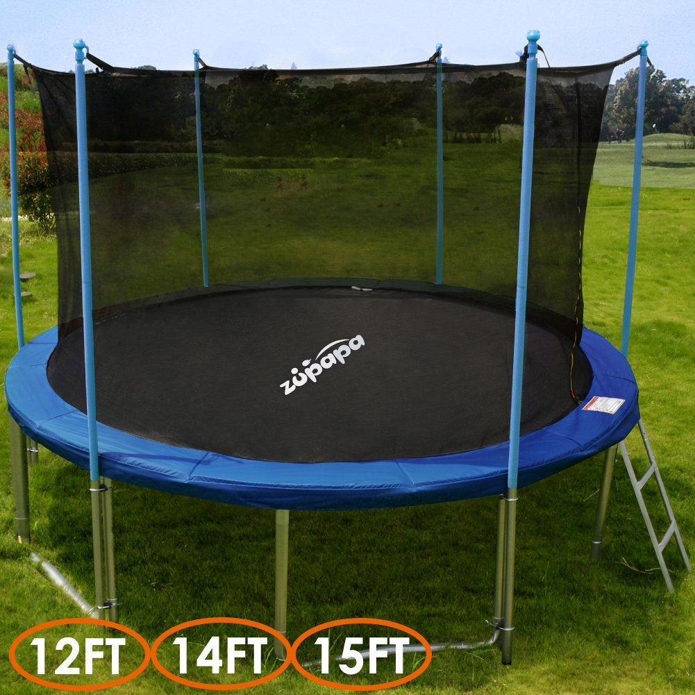 T 220 V Approved Zupapa 14ft Round Trampoline With Enclosure