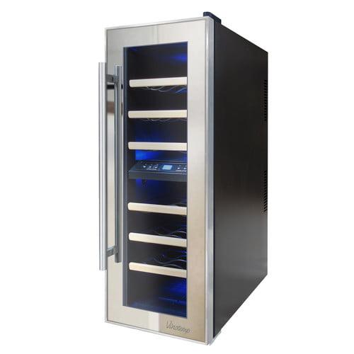 Vinotemp 21 Bottle Dual Zone Freestanding Wine Cooler