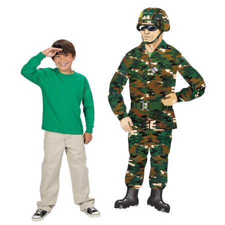 Fun Express - Large Camo/army Guy Jointed Cutout for Birthday - Party Decor - Wall Decor - Cutouts - Birthday - 1 Piece](Camo Party Decor)