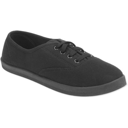 07768566fe5a Women s Casual Canvas Lace Up Shoe - Walmart.com