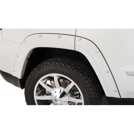 Bushwacker 11-18 Jeep Grand Cherokee Pocket Style Flares 2pc Does Not Fit SRT8 - (Fender Flares For 2005 Jeep Grand Cherokee)
