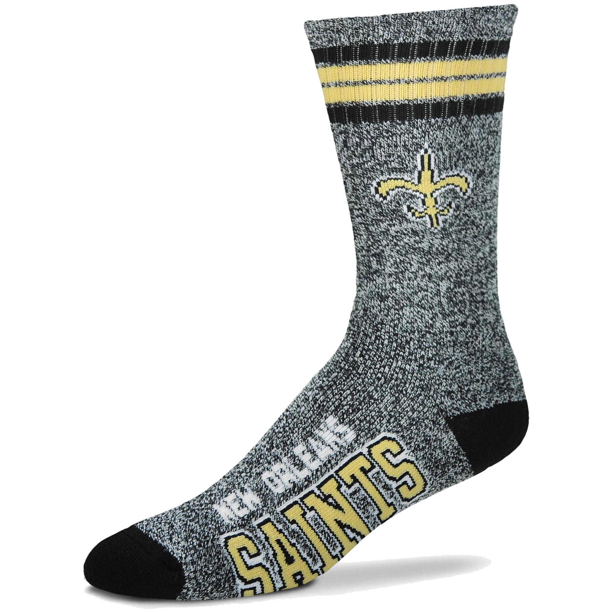 New Orleans Saints For Bare Feet Got Marble Crew Socks - Gray - L