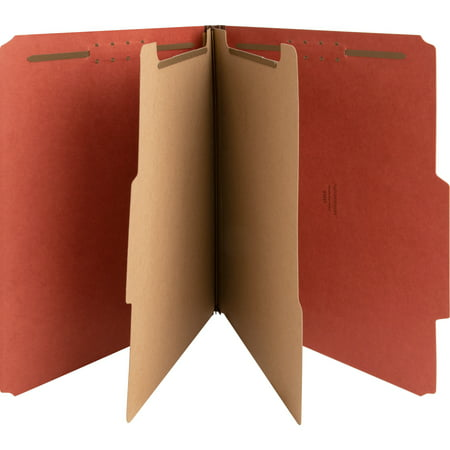 Nature Saver Kraft Divider Recycled Classification Folders, Red, 10 / Box (Quantity) 1 Kraft Divider