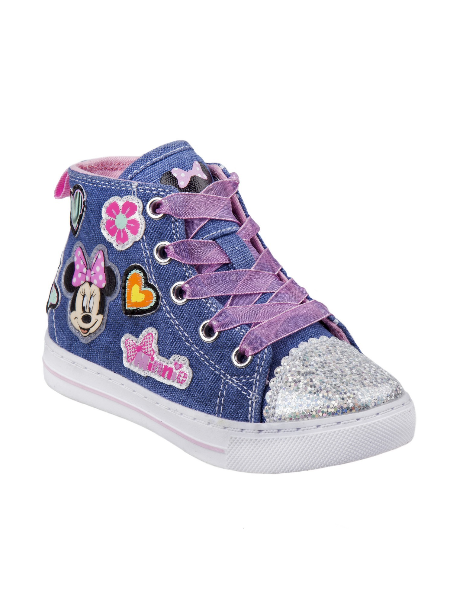 Girls' Josmo O-CH17788 Minnie Mouse High Top Canvas Sneaker by Disney